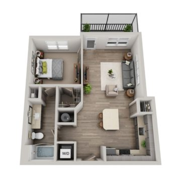 Apartment 6-208 floor plan