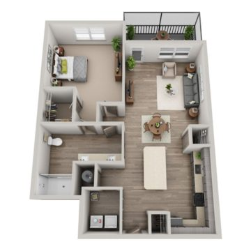 Apartment 1-204 floor plan