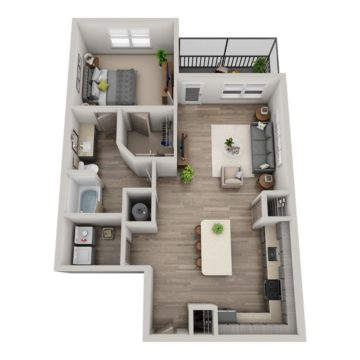Apartment 8-105 floor plan