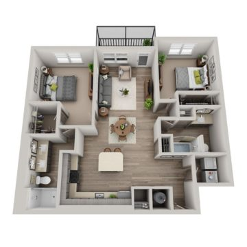 Apartment 6-304 floor plan