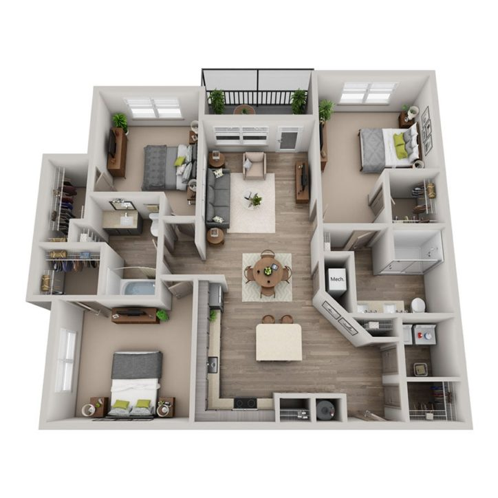 Rendering  of the Valor floor plan layout