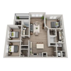 Apartment 3-301 floor plan