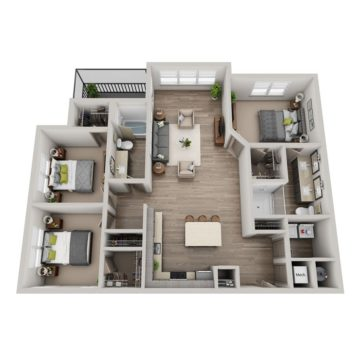 Apartment 8-409 floor plan